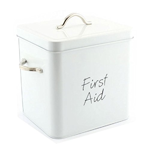 fun-daisy-first-aid-white-medical-storage-box-medicine-kit-container-metal-shabby-chic