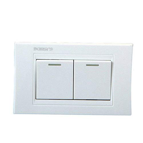 GIlH GJSBDG Wall Switch Panel Two Switch Bouble Control 250V 10A -