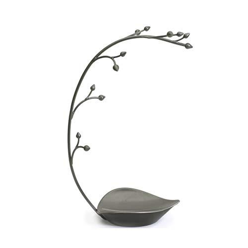 Betty & Co Jewellery Tree - Schmuckständer mit Ablage, Metal Orchid Design, 15inch groß (Faux Orchid Leder)