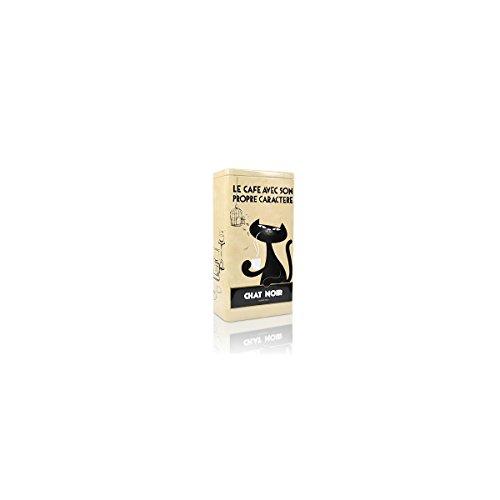 Zwarte Kat Kaffeedose Chat Noir, beige Aufbewahrung der Kaffee Bohnen