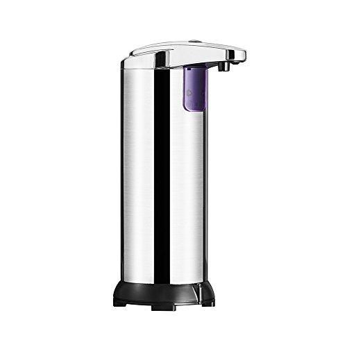 AimdonR Automatische Seifenspender, Premium Edelstahl Touchless Seifenspender w/Hände frei Infrarot Bewegungssensor, für Küche & Bad,250ml