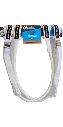 2016 Prolimit WC Harness Lines Vario Buckle - White 26-34