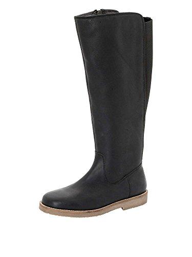 sheego Femmes Bottes mollet large cuir véritable Noir