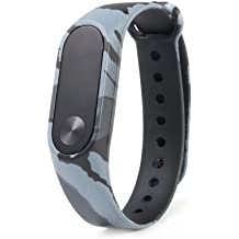 mStick Replacement Wristband Strap for Xiaomi Mi Band 2, Ollivan Silicon Colorful Camouflage Alternative Rubber Strap Waterproof Cover for Xiaomi OLED Fitness Band 2.0