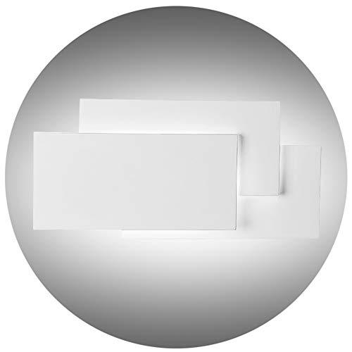 K-bright applique a led,24w, ip20 impermeabile lampada a effetto a parete,10.2x4.9x2.2 pollici,bianco naturale, guscio bianco