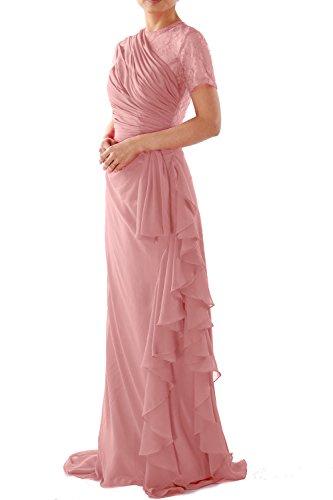 MACloth - Robe - Trapèze - Manches Courtes - Femme Rose - Blush Pink