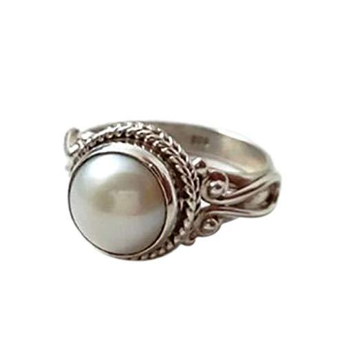 UINGKID Schmuck Damen Ring Modetrend-Weinlese-Metallantike weiße Perlen-Dame - Antike Griechische Lady Kostüm