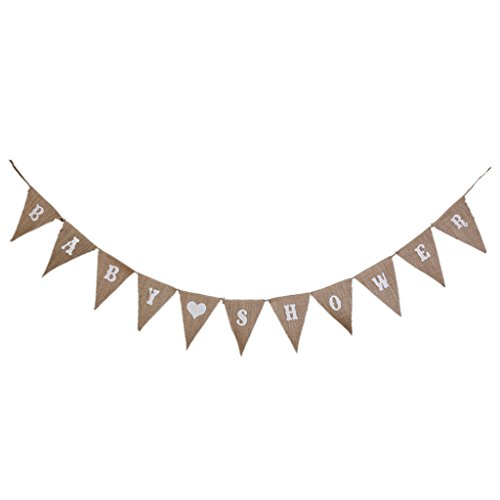 AKORD Bunting Banners Party Decoration 11 Flags, Jute, Hessian, 280 x 17 x 0.01 cm