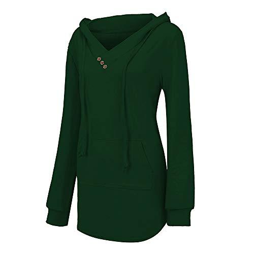 Sconto felpe da donna giacche invernali donna pelliccia,donne v- collo pulsante leggero accostare cappuccio felpa con tasca camicetta