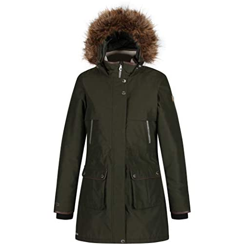 31MF37PefEL. SS500  - Regatta Women's Safiyya Waterproof & Breathable Down-touch Insulated Faux Fur Hooded Winter Jacket
