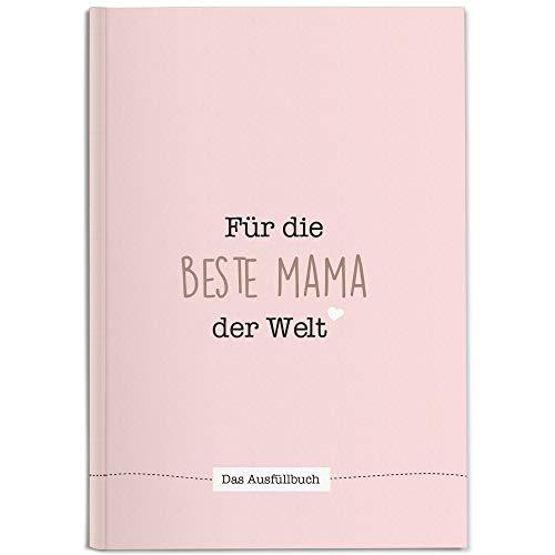 CUPCAKES & KISSES® Mama Buch zum Ausfüllen I Süße Geschenkidee für die Mama I Geschenk für die Mutter zum Geburtstag, Weihnachten oder Muttertag