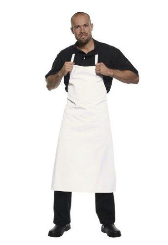 Karlowsky Latzschürze Basic Küchenschürze weiß