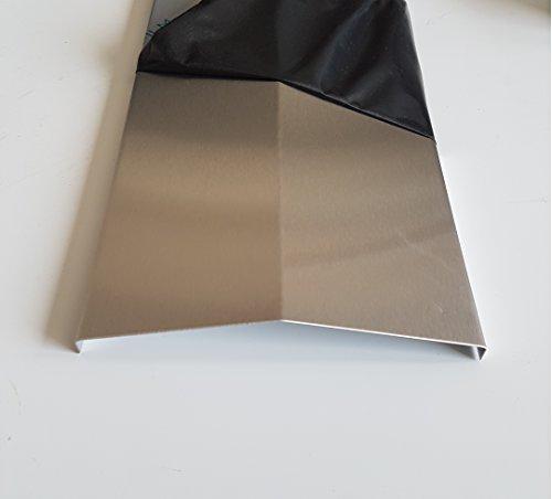 Flammenabdeckung Edelstahl K240 Flammenverteiler GROßE AUSWAHL Gasgrill Flammenblech 0,8mm V2A (Länge: 390mm/ Öffnung 140mm)