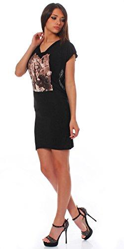 Religion Robe Femmes robe Robe Partykleid Féminin T-Shirt ISN`t DEAD DOS-NU B121RID30 Noir