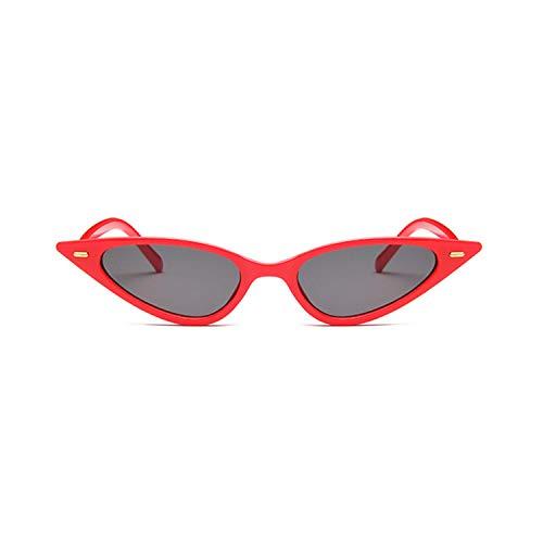 Sportbrillen, Angeln Golfbrille,Women Sexy Cat Eye Sunglasses Brand Designer Small Triangle Vintage Sun Glasses Retro Cateye Eyewear Purple Black Sunglass red gray