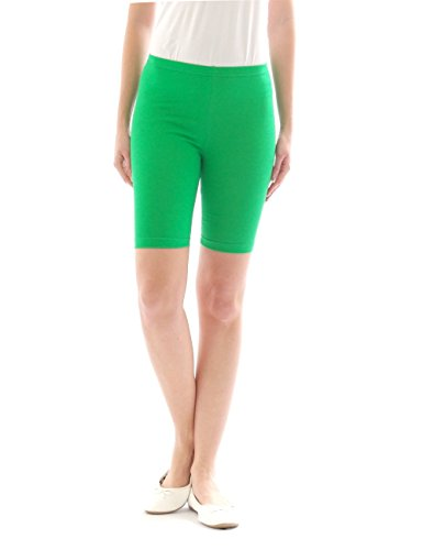 yeset Damen Sport Shorts Hotpants Sportshorts Radler kurze Leggings Baumwolle grün XXL