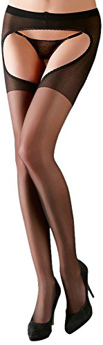 Cottelli Collection Strumpfhose ouvert Schwarz
