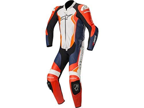 Alpinestars Tuta Moto In Pelle Gp Force Rosso-Nero-Bianco-Arancio (34 Vita = Eu 50, Arancio)