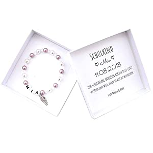 Schulkind Armband, Geschenk Einschulung, Namensarmband, Geschenkbox Schulanfang, Einschulungsgeschenk Mädchen
