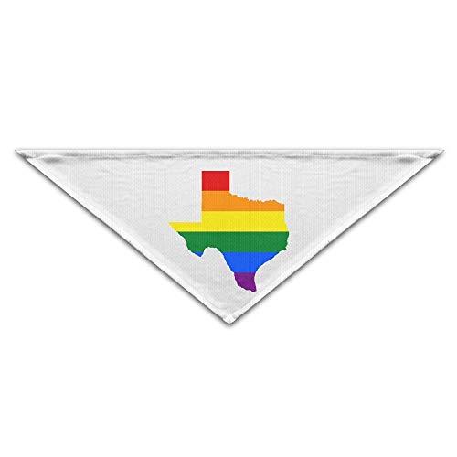 Wfispiy Texas Gay Pride Triangle Hündchen Bandanas Geburtstag Schal Lätzchen waschbar drucken