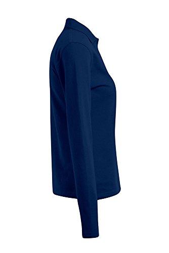 Polo femme manches longues Bleu Marine