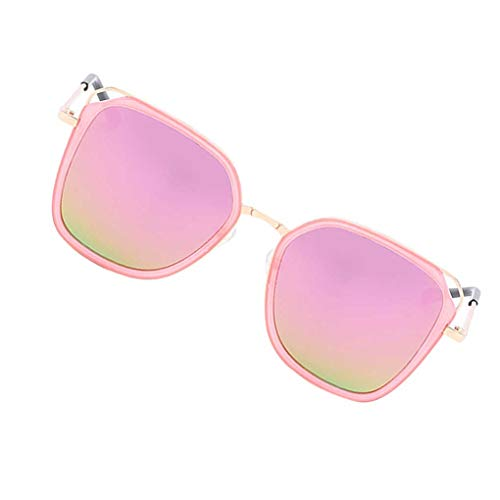 babysbreath17 Frauen-Mädchen-Männer Retro-Treiber Shades weiblich Jahrgang Sonnenbrillen Spuare Spiegel Sommer Eyewear Pink 1 160mm total Width
