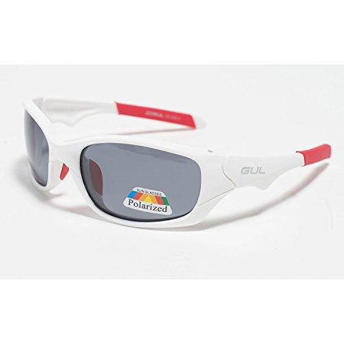 GUL Saco Floating Watersport Beach Yachting- oder Surf-Sonnenbrille Weiß Rot - Kat.3: 100% blendfreie polarisierte Gläser
