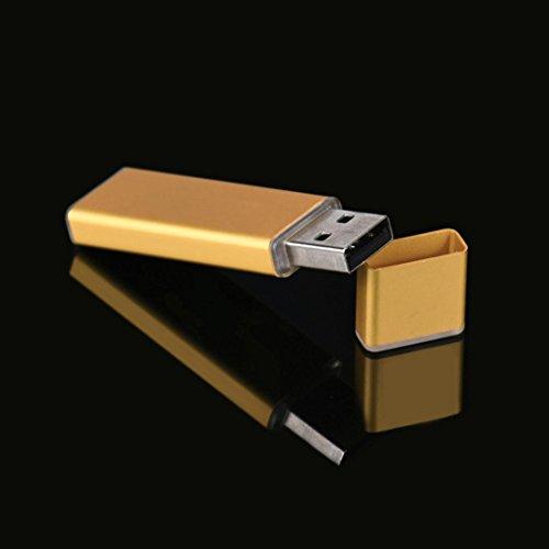 Kingko® Aluminiumlegierungs-Kasten USB2.0 Blitz-Speicher-Antriebs-Gedächtnis-Stock U-Scheibe, 4GB / 8GB / 16GB / 32G / 64GB / 128GB Gold