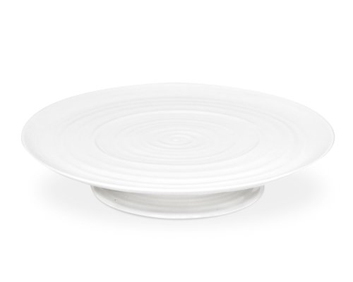 Portmeirion Sophie Conran White Footed Cake Plate 32m