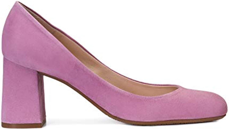 GENNIA Viva - Escarpins Chaussures à Talon Large 7 de 7 Large cm avec Bout Rond fermé pour Les Femmes 2d267f
