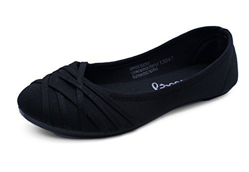 Ladies Flat Black Slip-On Work School Shoes Dolly Comfy Ballet Pumps Sizes...