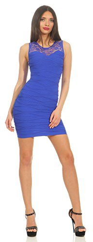 Sommer-Kleid Dress Club Party Cocktailkleid Shape Gr. S/M, L/XL Blau L/XL