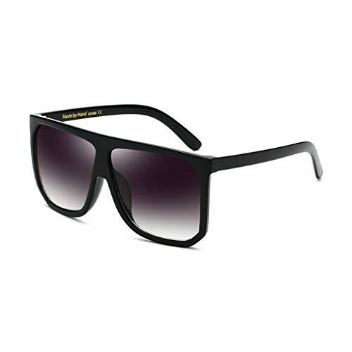 ZHAO ZHANQIANG Mode Männer und Frauen übergroße Sonnenbrille super Flache Top Square Sonnenbrille große Cat Eye Sonnenbrille (Farbe : F)