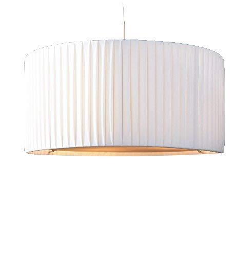 lounge-zone Marken Designerleuchte Plissee Hängelampe Hängeleuchte Leuchte Art Deco SOBIETTO Weiss Schneeweiss Gestell Chrom verchromt Durchmesser 65cm 13278