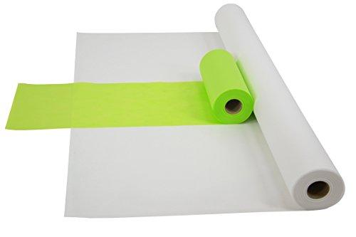 1 Kombi-set (Sensalux Kombi-Set 1 Tischdeckenrolle 1,2m x 25m + Tischläufer 30cm (Farbe nach Wahl) Rolle weiß Tischläufer apfelgrün)