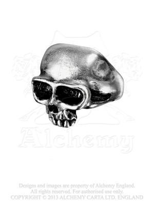 Alchemy Gothic ´death´ Ring Metalwear Schädel Ring - Metallic (Alchemy Gothic Schädel Ring)