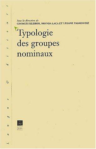 Typologie des groupes nominaux