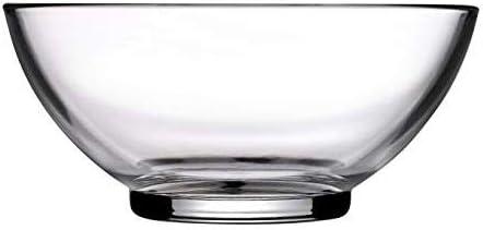 Pasabahce Aqua Glass Salad Bowl,9.25 inch