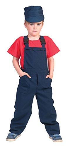 Fasching Kostüm Bauarbeiter Damen - Karneval-Klamotten' Kostüm Latzhose blau Kostüm Junge