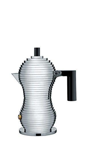 Alessi mdl02/1B PULCINA Stove Top café 1taza cafetera eléctrica en aluminio fundido, mango y pomo de PA, negro por Alessi