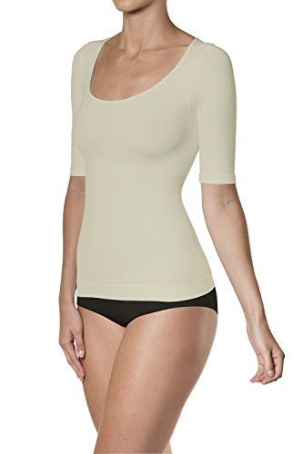 Sleex T-Shirt modellante (maniche a 3/4 e scollo ampio tondo) Sabbia (Beach)