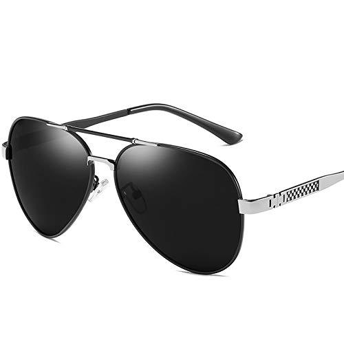 Yiph-Sunglass Sonnenbrillen Mode Polarisierte Sonnenbrille im Retro-Trend für Männer aus Metall. (Color : 2)