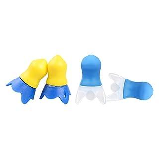 healifty Vliegtuig oordopjes luftdruckreduzierung Vliegtuig reis Siliconen ruisonderdrukking oordopjes 2paar (Blauw )