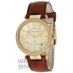 ebd09adf2ee3 MK2249 Ladies Michael Kors Chronograph Leather Strap Watch (B00HALRFPA)