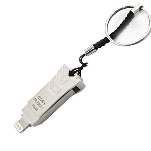 SU Externes Festplattenlaufwerk 16GB-128GB USB3.0 Für PC/iPhone 2-in-1 Externer Speicher Metall,16GB