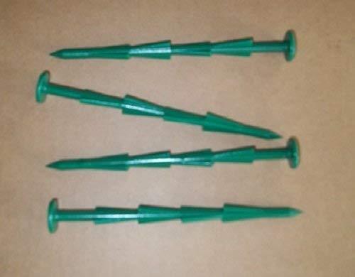 Mighty Spikes - 100 Stück - Grün - 15,2 cm super Starke Stangen für Garten, Landschaftsgewebe, Kunstrasen, Planen & Zelte, Camping, Klammern, Reißnadeln, bruchfest, rostet Nicht und verbiegen