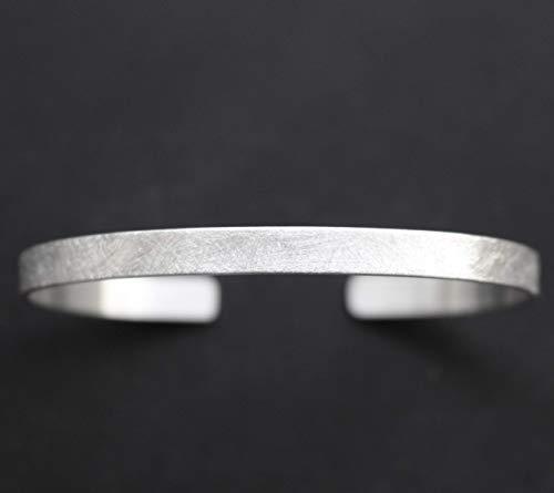 Manufaktur 925 Silber Armreif gebürstet personalisiert schmal