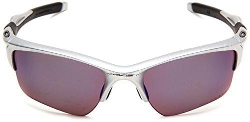 Oakley Herren Half Jacket 2.0 XL 9154 HALF JACKET 2.0 XL POLARIZED Rechteckig Sonnenbrille, SILVER/G30 IRIDIUM POLARIZED/G3 Iridium Polarized (S3)