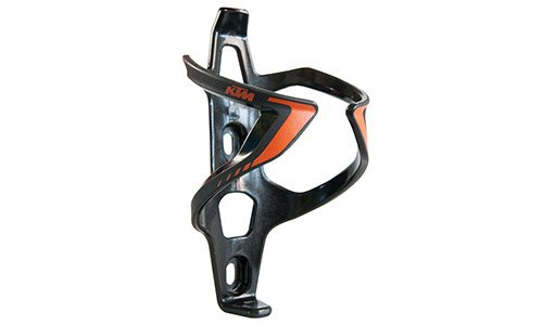 KTM MTB Fahrrad Flaschenhalter - Wing II - Schwarz/Orange + Key Holder (5-398)