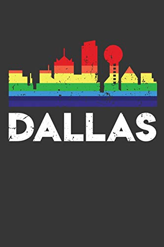 Dallas: 100 page 6 x 9 Travel journal Vacation American skylines, LGBT Flag Rainbow City Pride to jot down your information, flights, budget and notes
